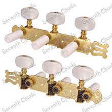 A Set White Pearl Button String Tuners Tuning Pegs Keys Machine Heads for Classical Guitar