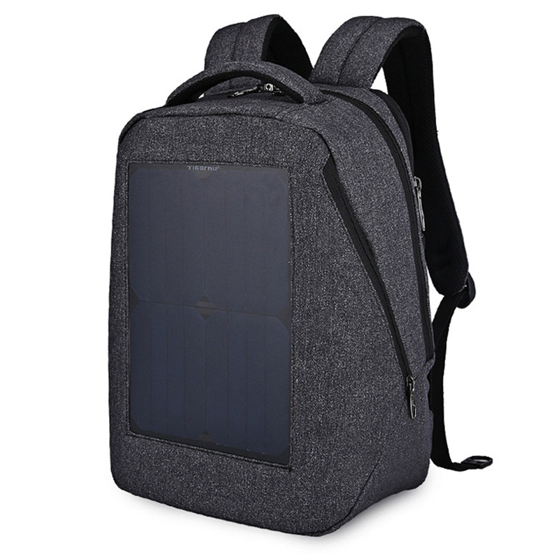 Tigernu TB3164 Water-resistant 21L Leisure Backpack Laptop Bag with Solar Panel for Unisex Nylon Solid Zipper Rucksack Mochila фен remington keratin therapy pro dryer ac8000