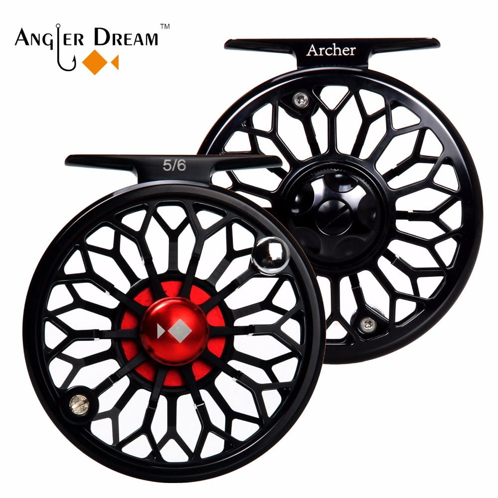 Angler Dream Fly Fishing Reel CNC Machined 3/4 5/6 7/8WT Aluminum Fly Reels Light Weight Fishing Reel angler dream fly fishing combo 3 4 5 8wt carbon fiber fly rod kit cnc machined fly fishing reel