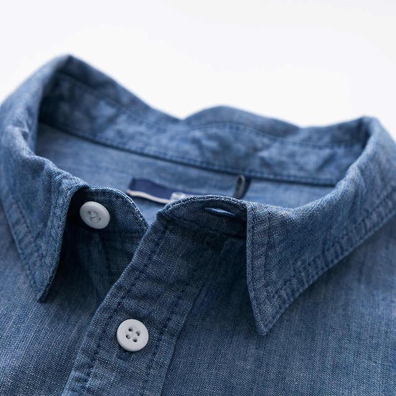 Мужская рубашка с коротким рукавом SEMIR, однотонная хлопковая Повседневная приталенная рубашка больших размеров, лето 2019