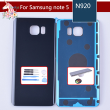 For Samsung Galaxy Note5 Note 5 N920 N920F Housing Battery Cover Door Rear Chassis Back Case Housing Glass Replacement oem для samsung galaxy note5 sm n920 n920 объем кабель гибкого трубопровода кнопки для samsung galaxy note5 sm n920