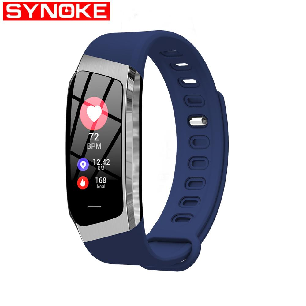 SYNOKE Women Smart Watch Men Color Screen Heart Rate Blood Pressure Monitoring Bluetooth Multi Language For Android And IOS