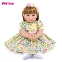 KAYDORA 20 дюймов 50 см силикона Reborn Baby куколки очаровашки реалистичные дети Reborn Младенцы принцесса девочка Bonecas раннего образования игрушки