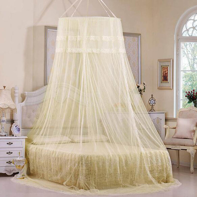 Summer Romantic Princess Mosquito Nets Bed Canopy Circular 3 colors Dome Moskito nets Single-door & Aliexpress.com : Buy Summer Romantic Princess Mosquito Nets Bed ...