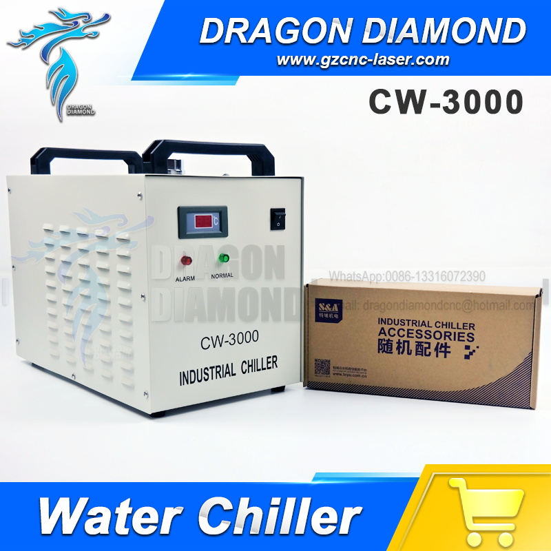 Co2 laser machine spare parts S&A CW3000 Industrial Water chiller for laser engraving machine co2 laser cutting machine industry water cooling machine for brazil cw 5000 bg 220v 60hz 100w laser chiller