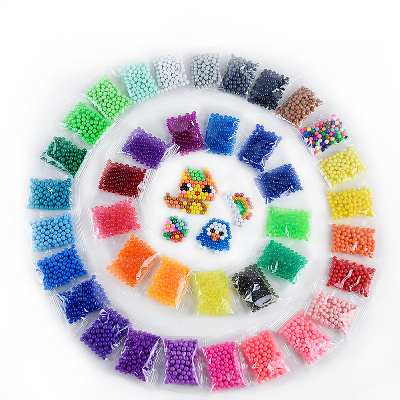 100pcs Perler Pegboard Beads Toys For Children Girl Boy Diy Water Bead Set Fuse Jigsaw Kids Handmade Puzzle Beadbond Toy