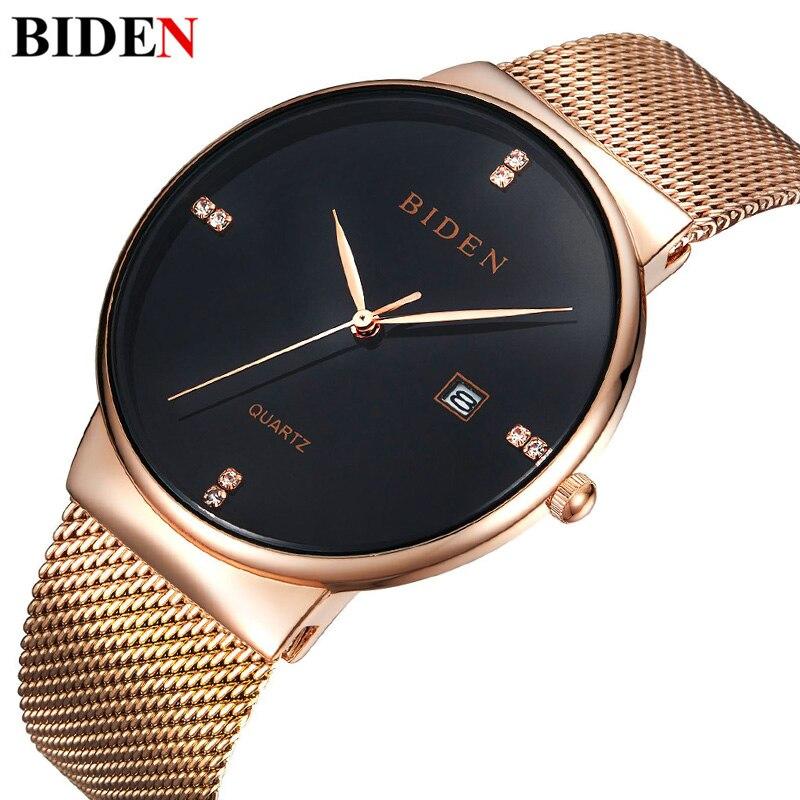 Gold Casual Crystal Quartz Watch Women Mesh Stainless Steel Dress Feminino Clock