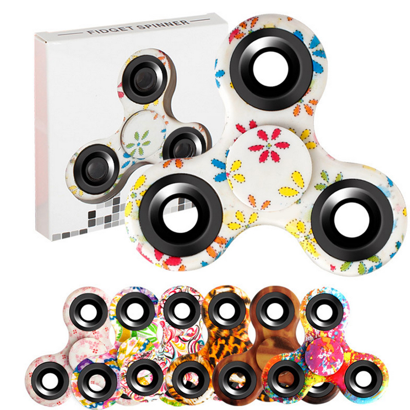 Painted Tri-Spinner Hand Spiner Fidgets Painting Finger Game Metal Bearing EDC Rotation...