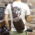 New men's chest pocket  casual Metrosexual Bag Shoulder  Messenger  man crazy horse free shipping cellphone