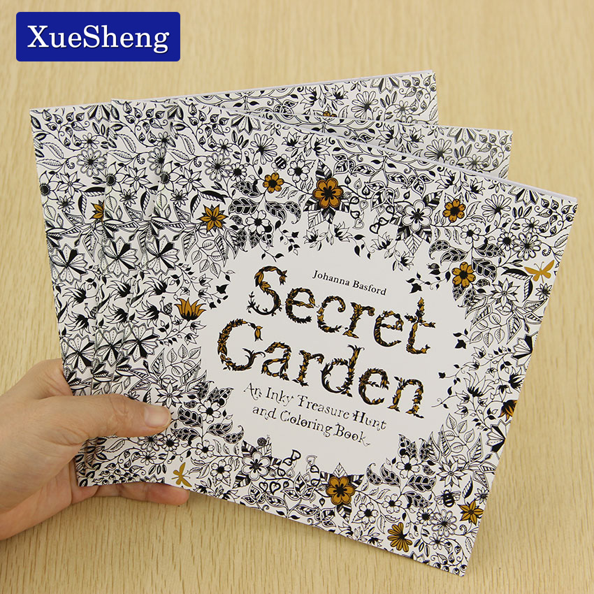 24 Pages Secret Garden English Edition Coloring Book For Children Adult Relieve Stress Kill Time