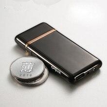 Nuevo USB encendedor electrónico recargable encendedor doble Lado de encendido más ligero fumar Gadgets de tungsteno puede ser reemplazado