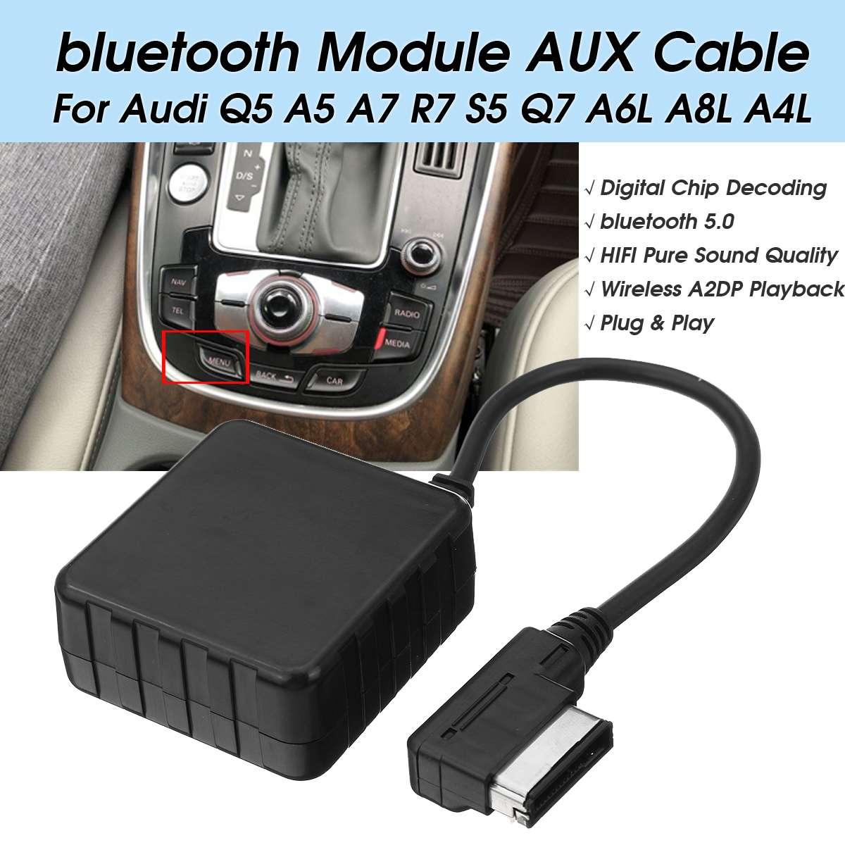 Kit bluetooth voiture Module AUX adaptateur de câble d'entrée MMI 3G + pour Audi Q5 A5/7 R7 S5 Q7 A6L/8L A4L