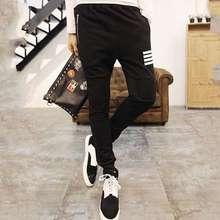 Fashionable Design Men Full Cotton Pants Male Slim Ankle Banded Pants Poppin Hip Hop Trousers Legging
