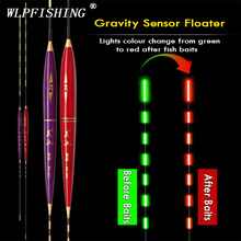 WLPFISHING Fishing Floats Gravity Sensor LED Electric Glowing Luminous Balsa Night Light Fising Bobbers Accessory Gifts