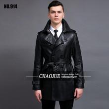 Горячая 2016 новых мотоциклов кожаная куртка, Высокое качество марка Man мода кожи тренчи мужчины свободного покроя парка, Пальто размер 6XL