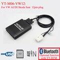 Yatour car radio USB SD Bluetooth MP3 emulator for Skoda  Super B Octavia 12pin plug