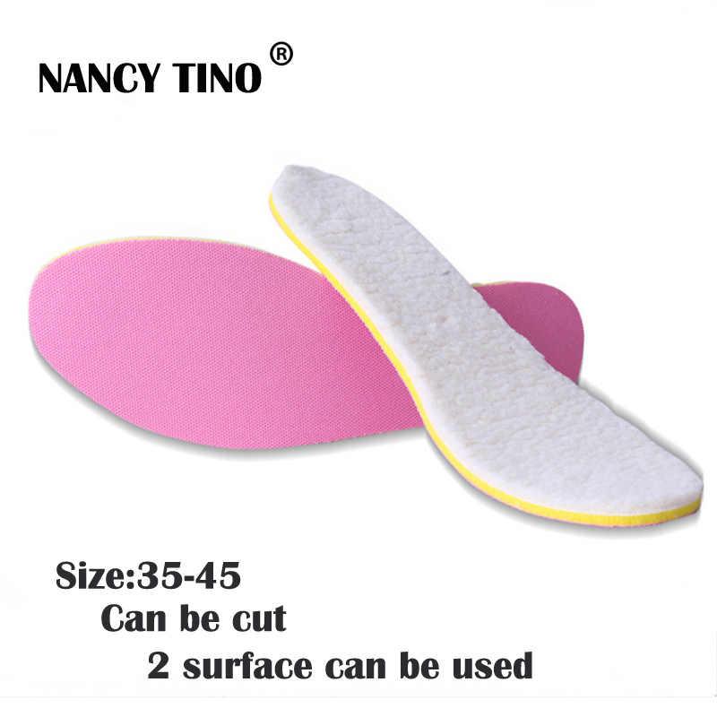 Nancy tino 부츠/신발 용 유니섹스 프리 사이즈 인솔 2 표면은 따뜻한 안창을 유지하기 위해 겨울에 두껍게 사용할 수 있습니다.