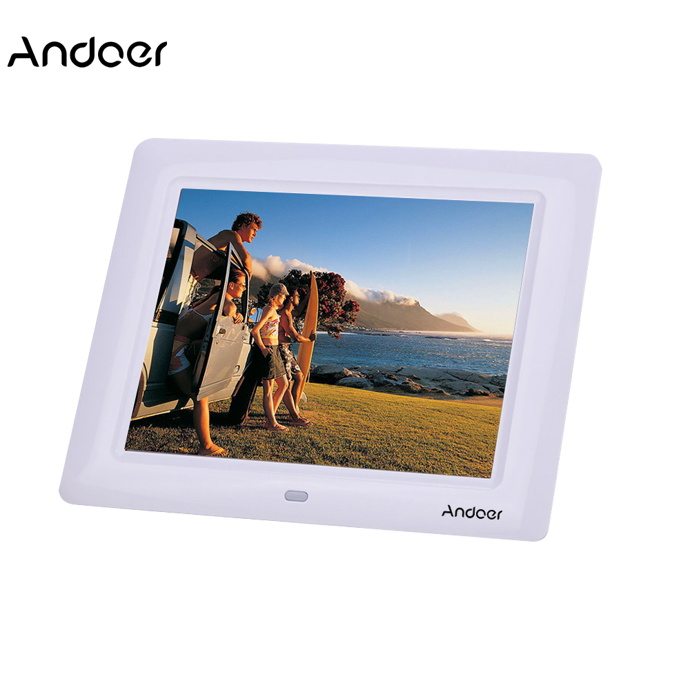 7 Hd Tft Lcd Ultraslim Digital Photo Frame With Slideshow Clock