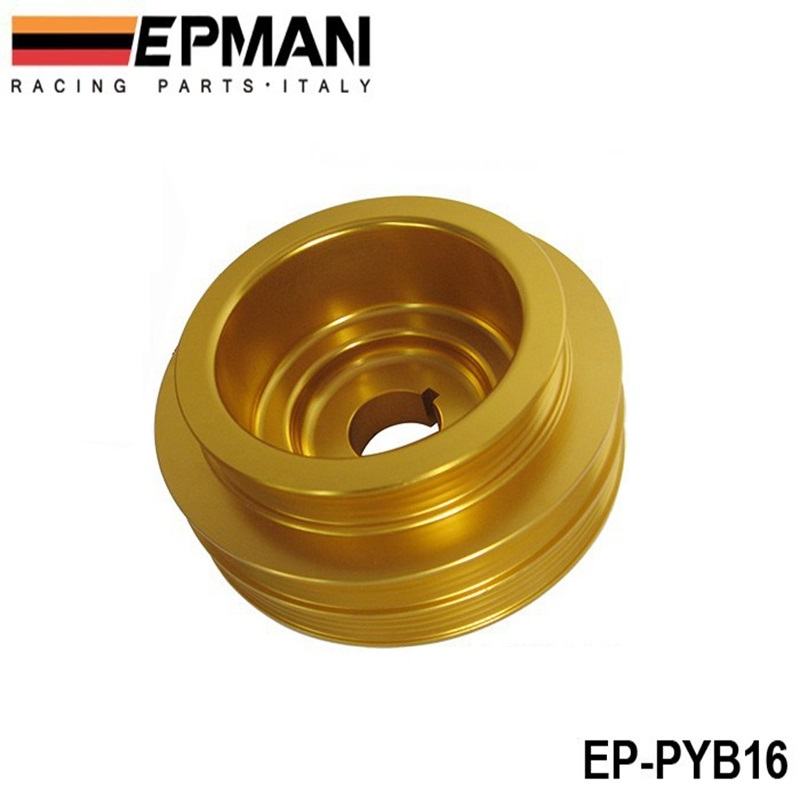 Light Weight Crank Underdrive Engine Pulley Gold For <font><b>HONDA</b></font> <font><b>CIVIC</b></font> 92-00 B16 Z0132 <font><b>B16A</b></font> B18C EP-PYB16 image