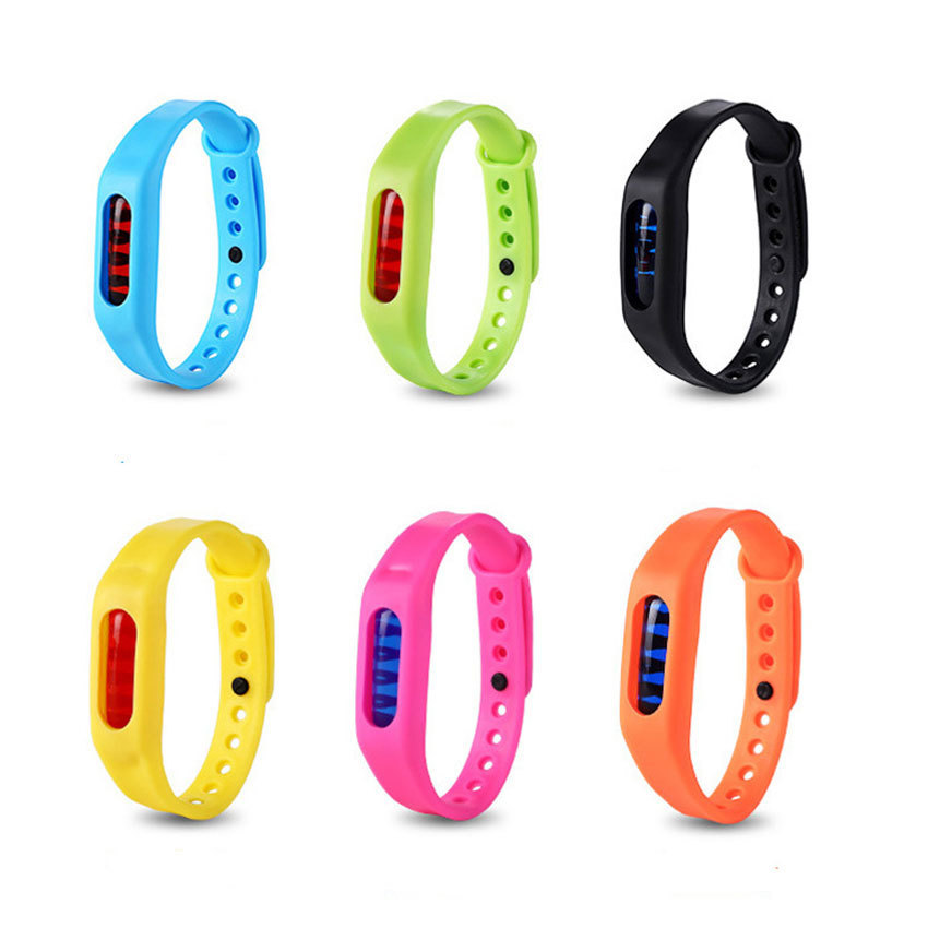 1Pcs Mosquito Repellent Bracelet Baby Child Mosquito Bracelet Silicone Repellent Buckle Plant Essential Oil Mosquito Watch Ring