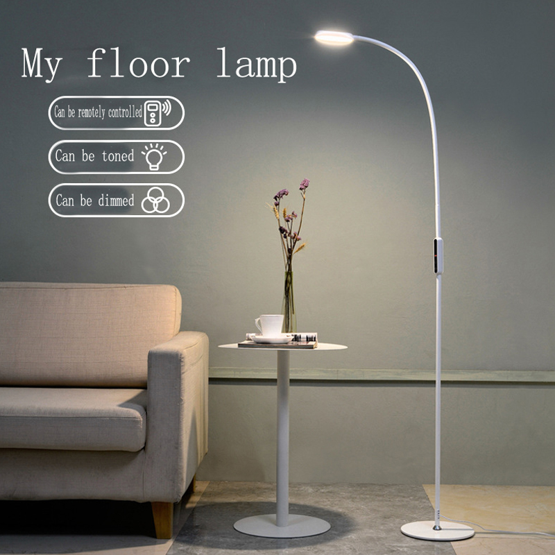 LED Floor Lamp 9W 5-Level Brightness Touch Switch Modern Contemporary Light for Living Room Bedroom Office Reading Piano Lamp 110v 220v modern 5w 7w 9w 12w led floor lamp stainless steel remote dimmable floor standing lights for reading studying fixture