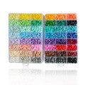 Cuentas de Fusibles Artkal 48 Colores Caja de Plástico EVA Joyería Hecha A Mano De Diy Regalo Creativo