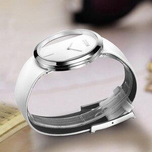 Image 2 - שעון נשים DOM מותג יוקרה אופנה מזדמן קוורץ ייחודי אופנתי חלול שלד שעונים עור ספורט ליידי שעוני יד 205L