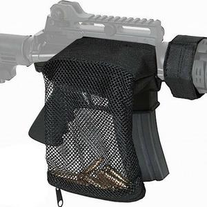 Image 5 - Polowanie taktyczne M4 wojskowe armii strzelanie mosiądz ar15 Bullet Catcher karabin Mesh pułapka Shell Catcher Wrap wokół torba na zamek błyskawiczny
