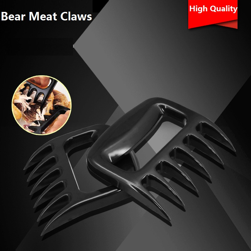 Quality Bear Meat Claws Split Meat Handler Barbecue Fork Tongs Pull Shred Pork BBQ Barbecue Tool Outdoor Kitchen Cooking Tool