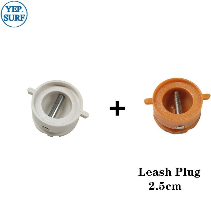 Surf Leash Plug Diâmetro 2.5 centímetros coleira Plugs 5 pcs Laranja + 5 pcs Branco