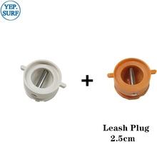 Surf Leash Plug Diameter 2.5cm leash Plugs 5pcs Orange +5pcs White