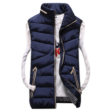 New Mens Jacket Sleeveless  homme Winter Fashion Casual Coats Male Down Men's Vest Thickening Waistcoat Autumn winter coat