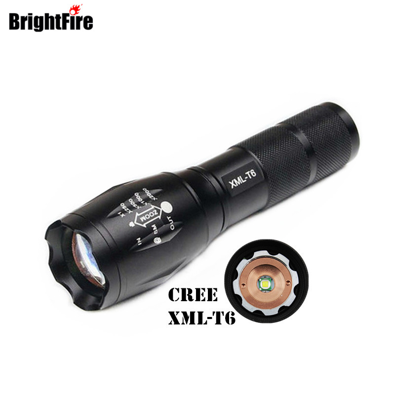 High Quality CREE XML T6 5 Modes LED Flashlight Waterproof Zoomable Adjustable Torch Lights Mini Penlight