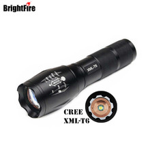 High Quality CREE XML-T6 5-Modes LED Flashlight Waterproof Zoomable Adjustable Torch Lights Mini Penlight Lanterna