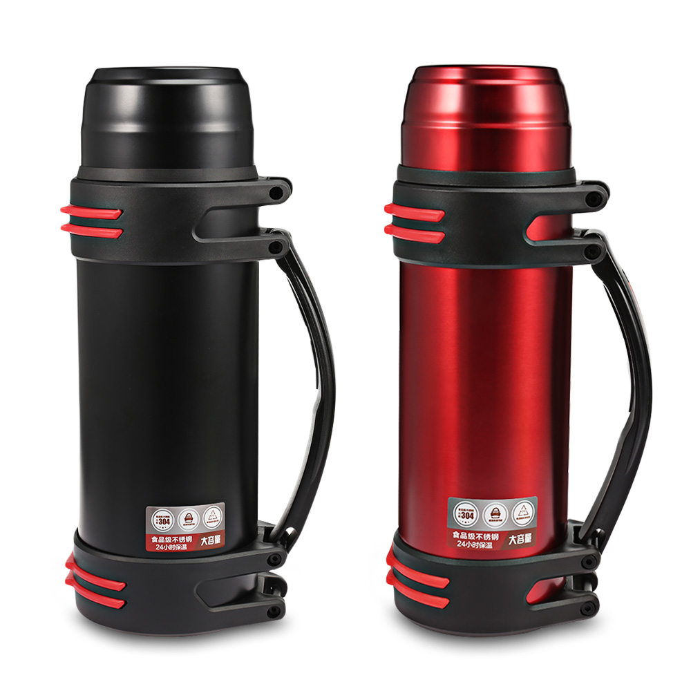 1200/2000ML Portable Outdoor Large Capacity Vacuum Insulated Flask Stainless Steel Leakproof Bottle For Travel цена и фото