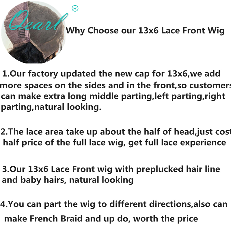 Deep Long middle Parting Lace Front Wig 13x6 Human Hair Blonde Color with Dark Roots Wavy Wigs Preplucked Remy Hair Qearl in Human Hair Lace Wigs from Hair Extensions Wigs