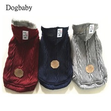 A77 New arrival Pet dog Clothes Winter Super Warm Puppy Dog Hoodie Sweater Jacket Cat Woollen Coat Dog Sweaters Clothing
