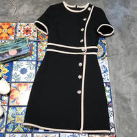 black dress for women summer o neck short sleeve dress 2018 fashion blouse dresses