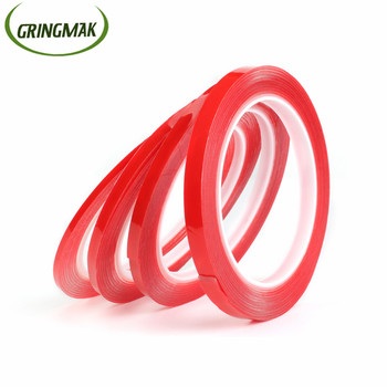 3-15mm Car Tape Transparent Sticker Acrylic Double Sided Heat Resistant Adhesive For Car High Strength PET Gel No Traces image