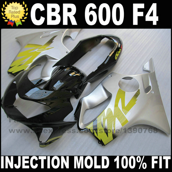 High Quality INJECTION mold Fairing kit for HONDA CBR 600 F4 fairings 1999 2000 CBR600 99 00 silver black motorcyle parts SR2 чехол для samsung galaxy note8 samsung clear view standing cover ef zn950cfegru