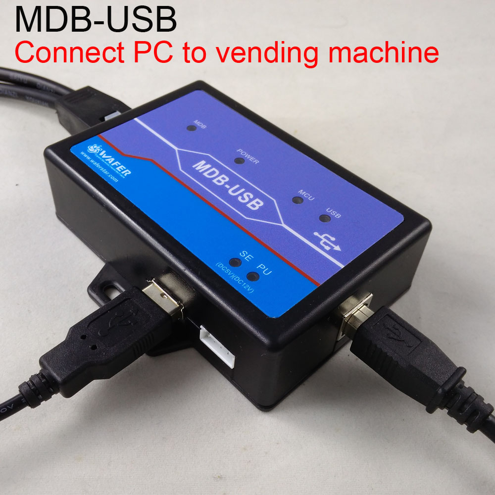 The PC to MDB adapter box, working with bill acceptor and coin validator Connect android or POS to vending machine small cigarette box vending machine bjy b50 with light box