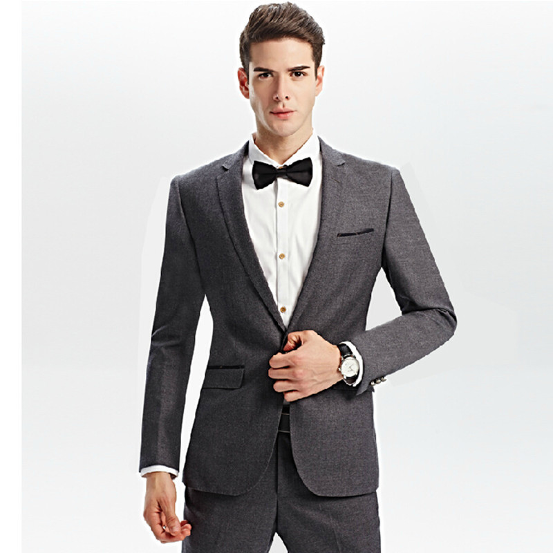 Aliexpress.com : Buy New young people slim gray leisure suits men