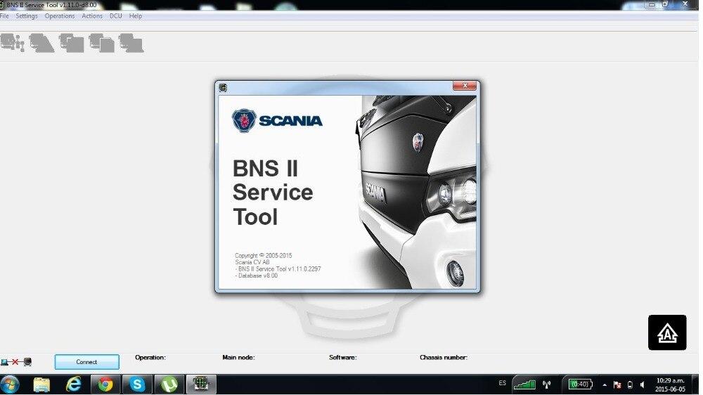ForScania BNS II outil de Service (BST) v1.11.0-d8.00 + fissure [pas besoin de dongle USB]