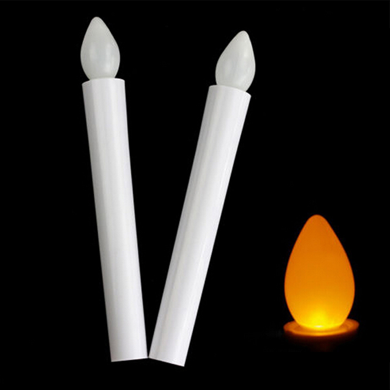 2019 New Battery Fashion Newly Flameless LED High Quality New Flickering Hot Tea Light Long Tealights Candles 18cm Lighting