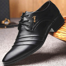 2019 Dance shoes business Casual Men Shoes Fashion Flats Round  Comfortable Office Dress New Wedding