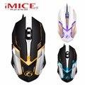 [Genuine] iMICE V6 Profissionais Ratos Gaming Mouse 6 Botões 3200 DPI LED Óptico USB Com Fio Notebook Computador Gamer periféricos