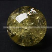 1PC nature citrine yellow crystal quartz gemstone sphere ball reiki healing F867 natural stones and minerals
