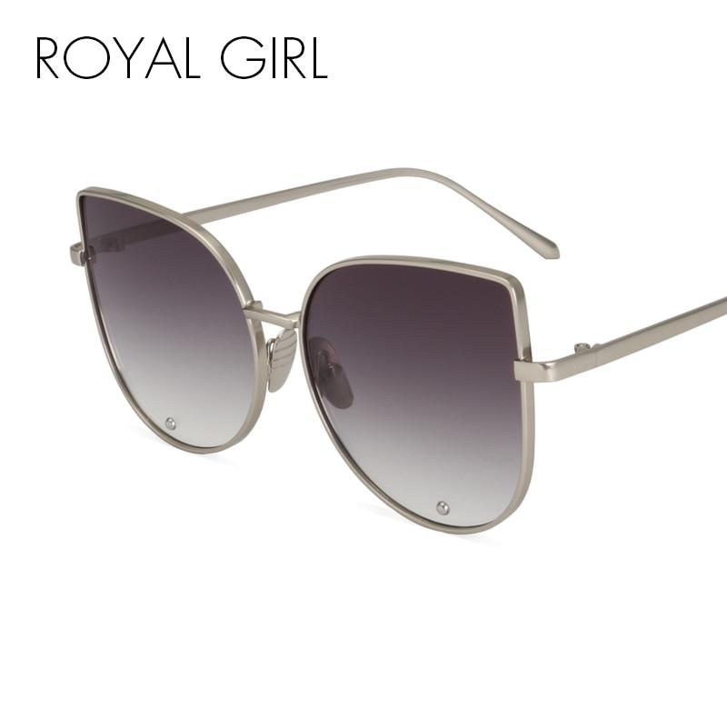 ROYAL GIRL Newest Fashion Cat Eye Sunglasses Women Brand Designer Alloy Frame Sun Glasses Shades Oculos