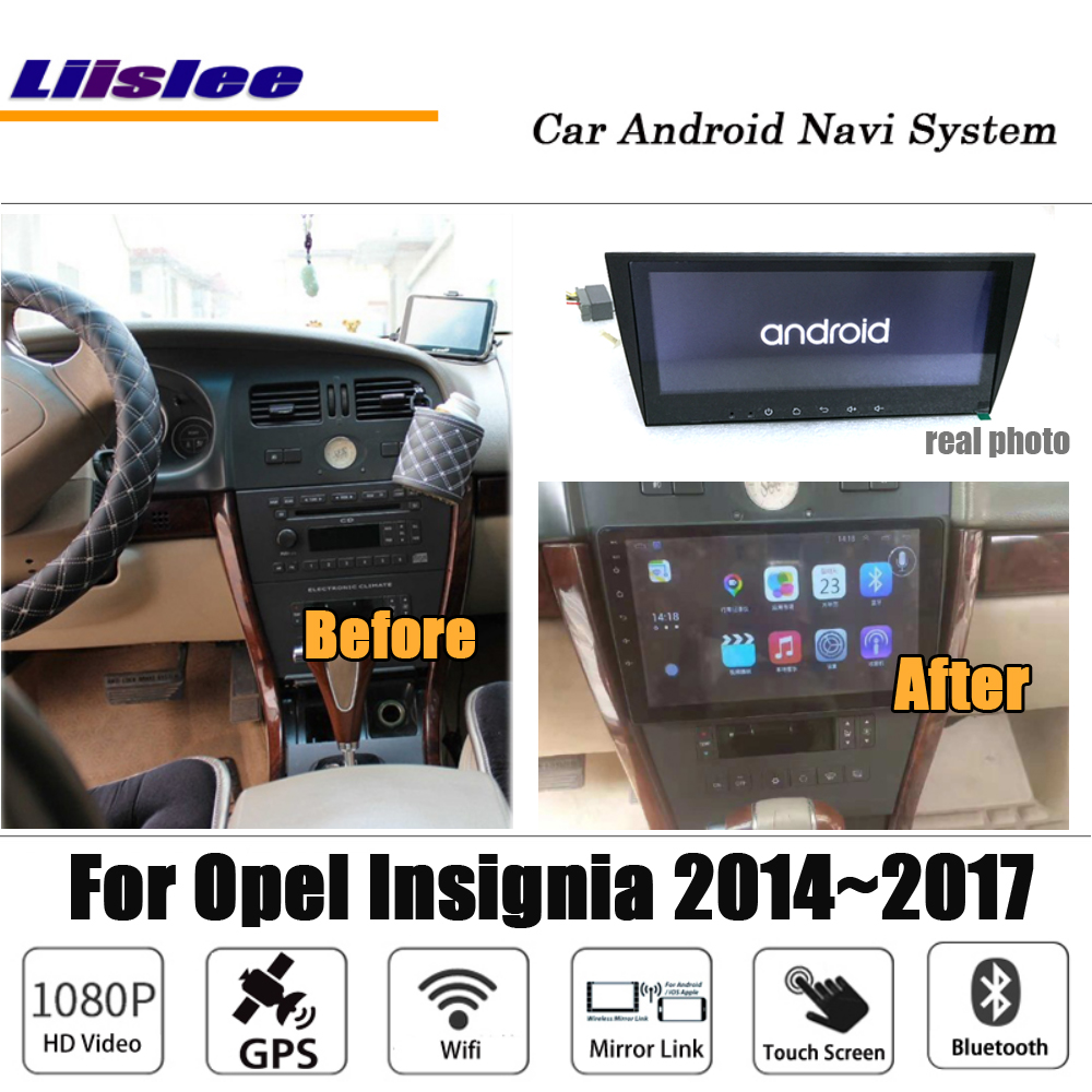 Liislee Car Android For Opel Insignia 2014~2017 Stereo Radio BT Video Carplay Camera GPS Navi Map Navigation System Multimedia