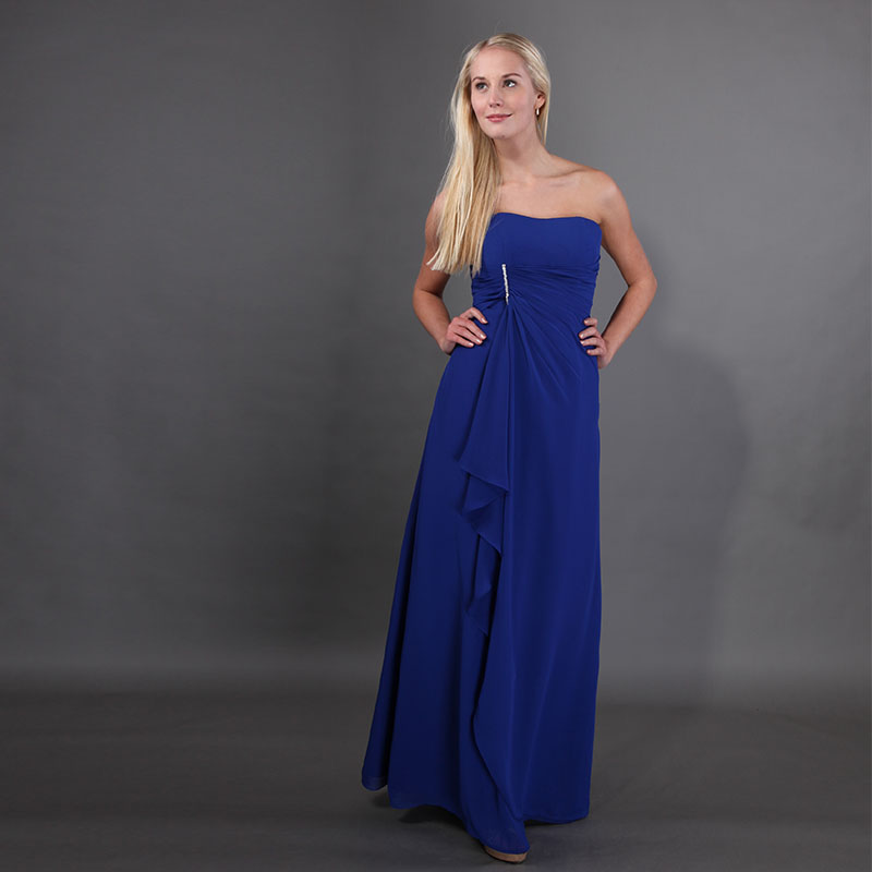 Best Selling Royal Blue Long   Bridesmaid     Dresses   Pleats Chiffon Diamonds Maid Of Honor   Dresses   2019 New Custom Vestido De Novia